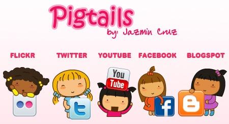 Pigtails social network icons