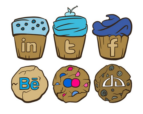 sweet social icon set