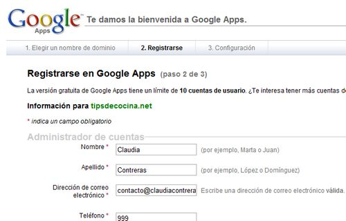 formulario Google Apps