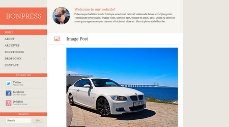 Bonpress Tumblog WordPress theme