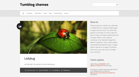 Diavlo Tumblog WordPress theme
