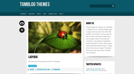 Quade Tumblog WordPress theme