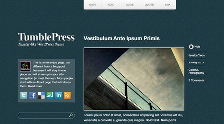 TumblePress Tumblog WordPress theme