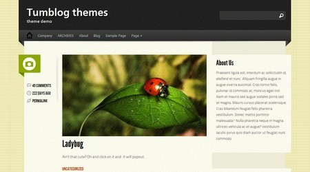 Ubert Tumblog WordPress theme