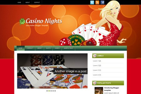 Casino Nights Blogger Theme